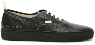 Common Projects Pebbled Low Top Stitched Sneakers