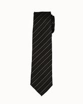 Le Château Diagonal Stripe Silk Blend Tie