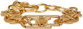 Versus Gold Safety Pin Chain Bracelet