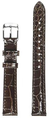 Michele 14 mm Alligator Strap (Brown) Watches