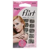 Fing'rs Flirt Nail Bling Zebra
