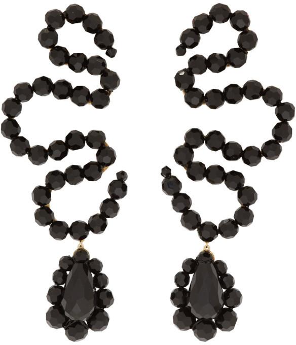Simone Rocha Black Wiggle Earrings