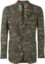 Gabriele Pasini - camouflage print blazer - men - Cotton/Polyamide/Polyester/Spandex/Elastane - 48