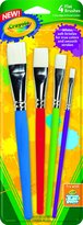 Crayola Paintbrushes-Flat 4/Pkg