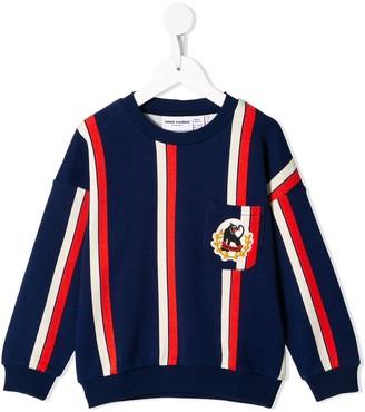 Mini Rodini Panther Crest Striped Sweatshirt