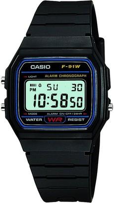 Casio Retro Black Digital Dial Black Resin Strap Watch