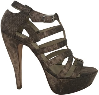 Elizabeth and James Brown Leather Sandals