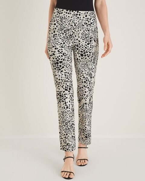 Travelers Collection Animal-Print Crepe Ankle Pants