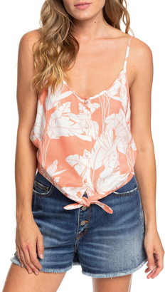 Roxy Become the One Tie Front Floral Tank