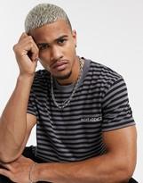 Night Addict oversized striped t-shirt-Multi