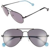 Jonathan Adler Women's 'Mustique' 58Mm Aviator Sunglasses - Black