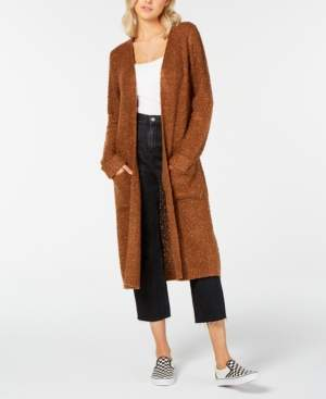Hooked Up By Iot Hooked Up by Iot Juniors' Textured Duster Cardigan