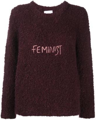 Antonella Rizza Feminist embroidered textured jumper