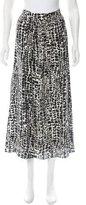Rachel Zoe Leopard Print Silk Skirt w/ Tags