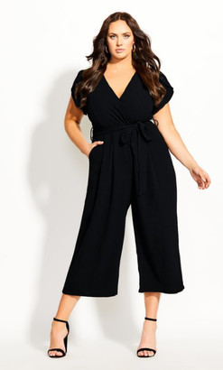 City Chic Zen Out Jumpsuit - black