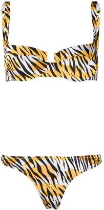 Reina Olga Beigitte tiger print bikini