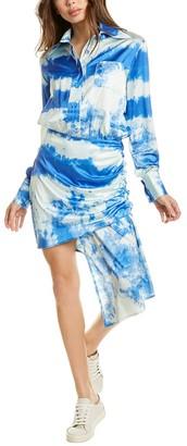 Beulah Ruched Drop-Waist Dress