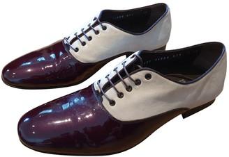 Salvatore Ferragamo Purple Patent leather Lace ups