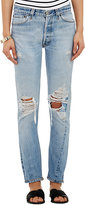 RE/DONE Women's The Straight Skinny Jeans-BLUE