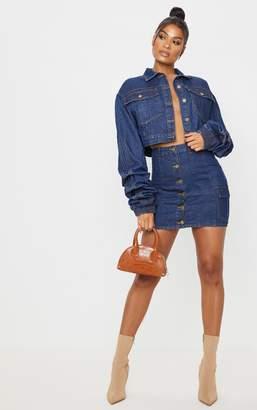 PrettyLittleThing Mid Wash Blue Denim Mini Skirt