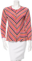 Sonia Rykiel Striped Crew Neck Cardigan
