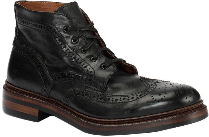 Frye Graham Brogue Leather Chukka Boot