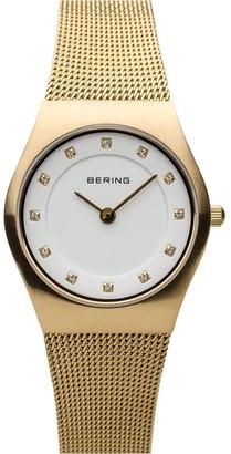 Bering Women's Goldtone Mesh Bracelet Watch