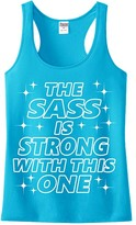 Urban Smalls Turquoise 'The Sass Is Strong' Racerback Tank - Toddler & Girls
