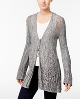 Style&Co. Style & Co Style & Co Petite Crochet Tie-Front Cardigan, Created for Macy's