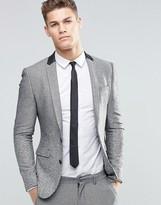 Asos Super Skinny Blazer With Ombr Design