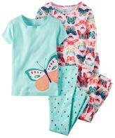 Carter's Girls 4-12 4-pc. Graphic Pajama Set