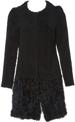 Amanda Wakeley Black Shearling Coat for Women