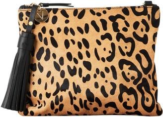 Vash Mickey Flat Clutch In Jaguar Print