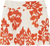 for THE OUTNET Ikat woven silk and cotton-blend shorts