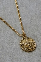 Gold-Plated Saint Christopher Necklace - gold at Urban Outfitters