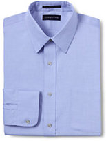 Classic Men's Slim Fit Solid No Iron Supima Pinpoint Straight Collar-Clear Blue/White Stripe