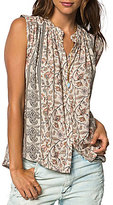 O'Neill Carley Border Printed Button-Front Tank Top