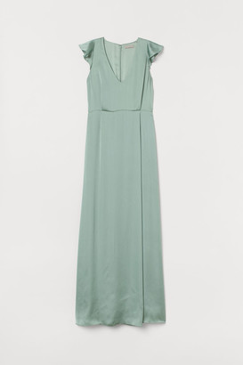 H&M Long Satin Dress - Green