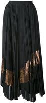 Proenza Schouler metallic panel pleated midi skirt