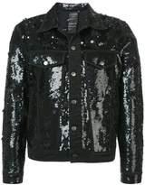 Ashish sequinned distressed denim jacket