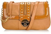 Melie Bianco Erin Clutch with chain shoulder strap and studs