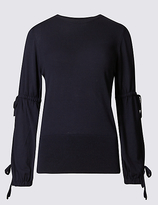 Limited Edition Drawstring Detail Round Neck Jumper