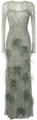 Rachel Gilbert Petunia sequin-embellished gown