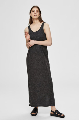 Selected Black Sleeveless Maxi Dress - xs