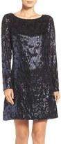 Vince Camuto Sequin A-Line Dress (Petite)