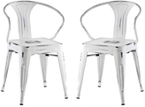 Modway Promenade Steel Dining Chair - Set of Two