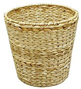 Household Essentials Woven-Banana-Leaf Round-Shaped Waste Basket