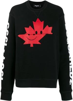 DSQUARED2 Maple Leaf Print Sweatshirt