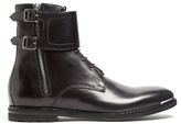 Alexander Mcqueen Monk-strap Ankle Boots