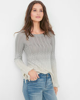 White House Black Market Petite Ombre Chevron Sweater
